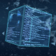 Blue Digital Cube - VideoHive Item for Sale