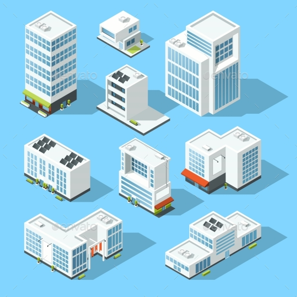 Isometric Industrial Buildings - Buildings Objects