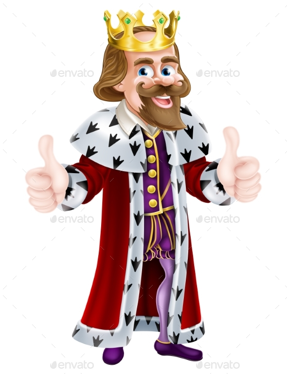 King Cartoon Mascot - People Characters