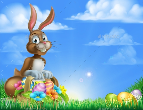 Easter Bunny Egg Hunt - Animals Characters