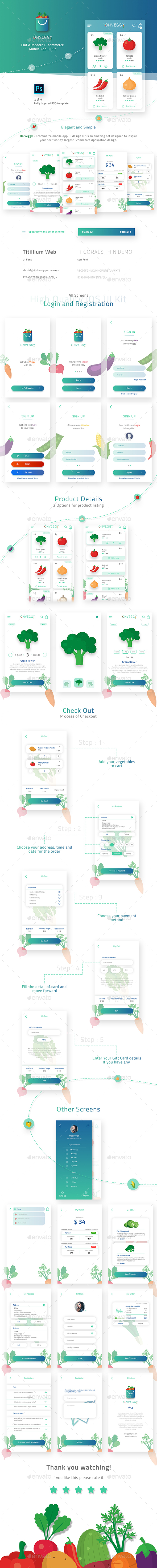 On Veggy - Multipurpose E-commerce App UI Kit - User Interfaces Web Elements