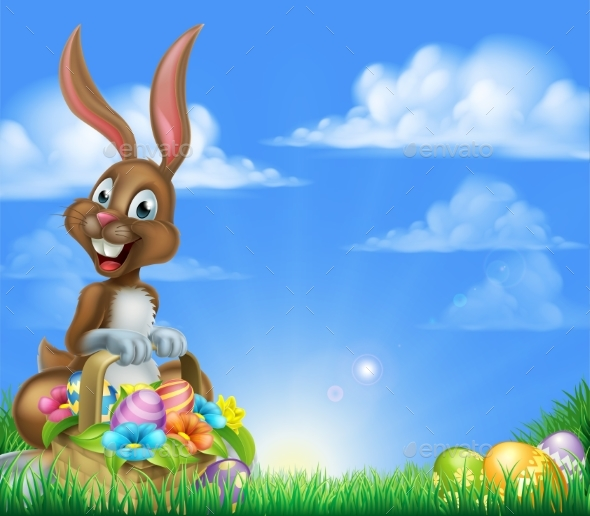 Easter Egg Hunt Bunny - Animals Characters