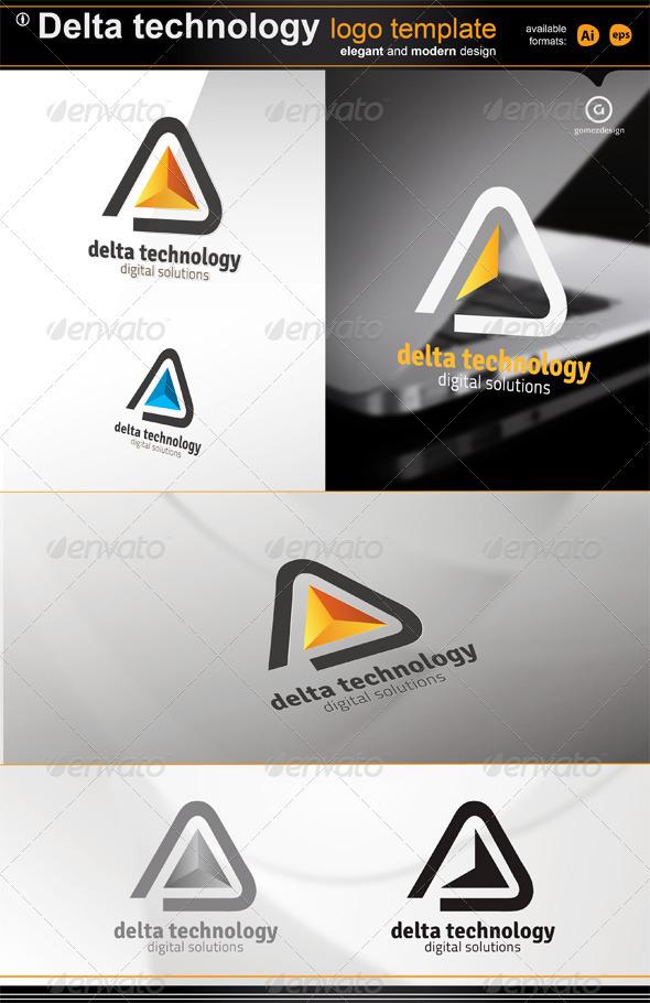 Delta Technology Logo - Symbols Logo Templates