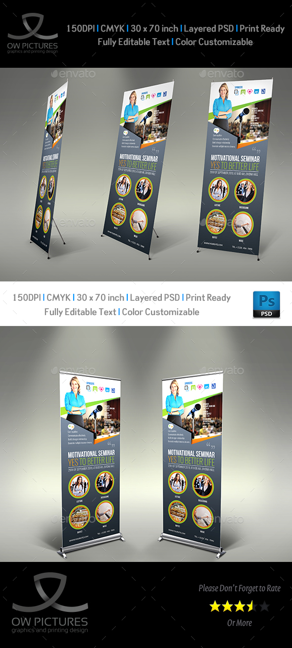 Seminar Signage Roll Up Banner Templates - Signage Print Templates