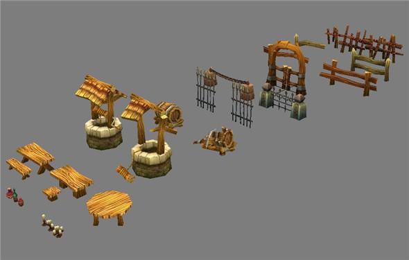 Game Model Arena - public facilities 01 - 3DOcean Item for Sale