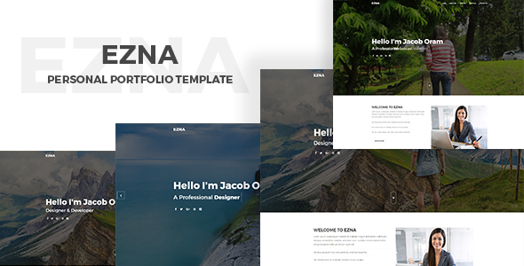 Ezna – Personal Portfolio Template - Portfolio Creative