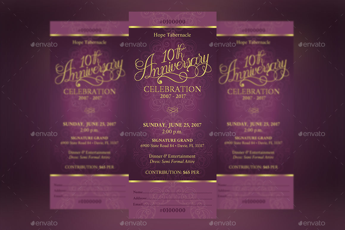 church anniversary banquet ticket by godserv2