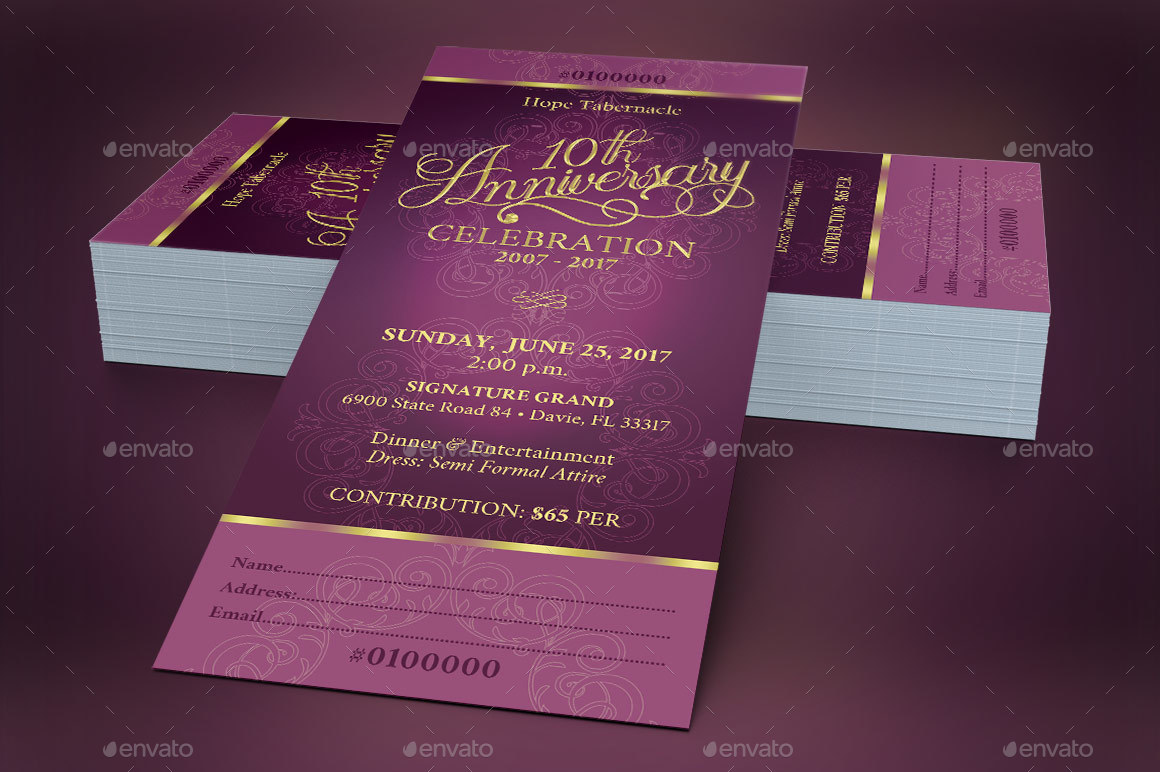 Church Anniversary Banquet Ticket by Godserv2 | GraphicRiver