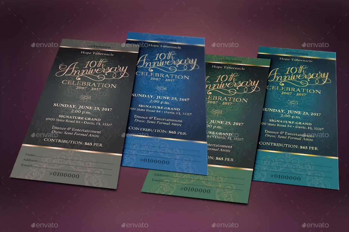 church anniversary banquet ticket by godserv2