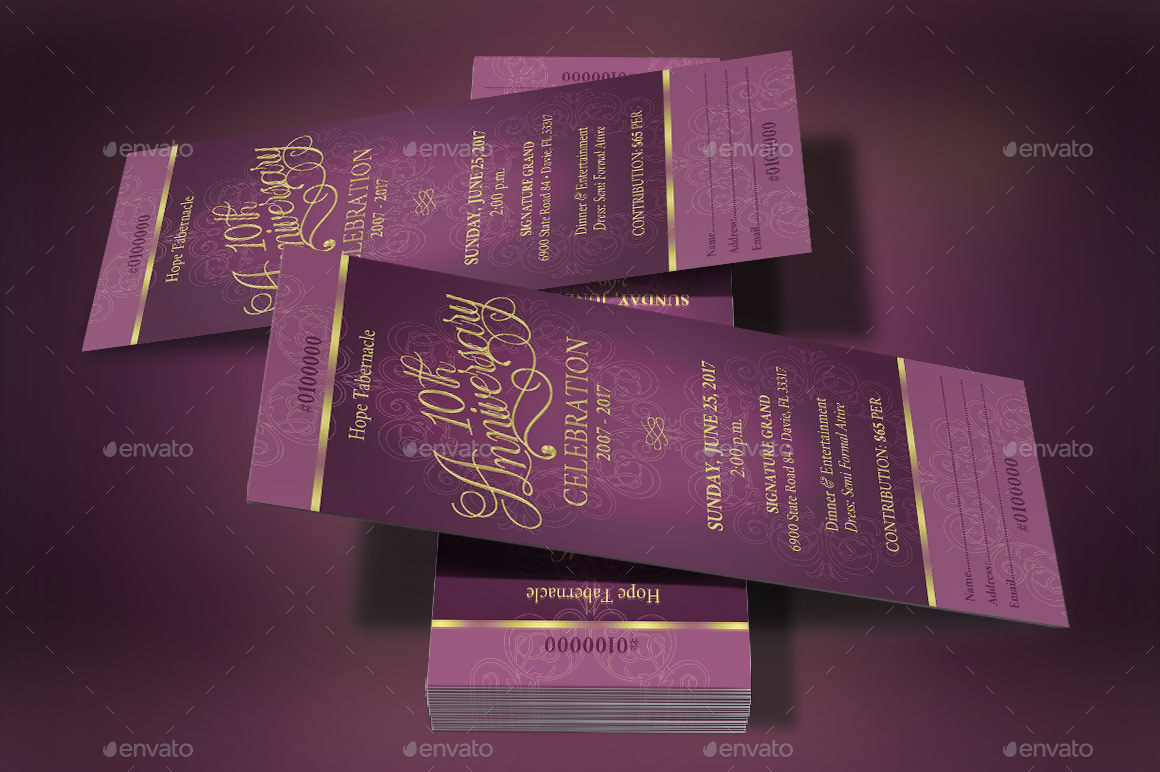 Preview Image Set Church Anniversary Banquet Ticket Template 2 Jpg 3