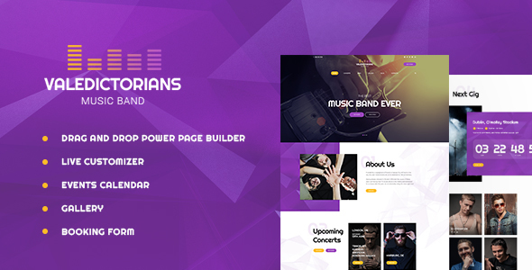Valedictorians - Entertainment & Creative WordPress Theme - Music and Bands Entertainment