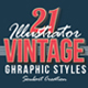 21 Vintage & Retro Graphic Styles - GraphicRiver Item for Sale