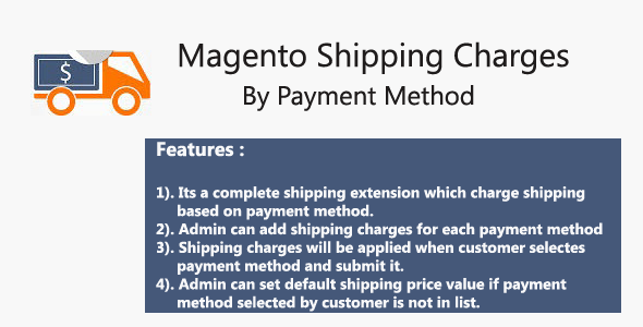 Magento Shipping Charges By Payment Method - CodeCanyon Item for Sale