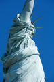Statue of Liberty close up clear blue sky in a sunny day in New