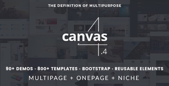 Canvas Bootstrap theme
