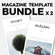 Magazine Template Bundle 01 - GraphicRiver Item for Sale