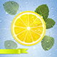 Lemon with Mint Leaves and Water Drops - GraphicRiver Item for Sale
