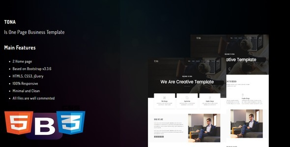 TONA – One Page Business Template