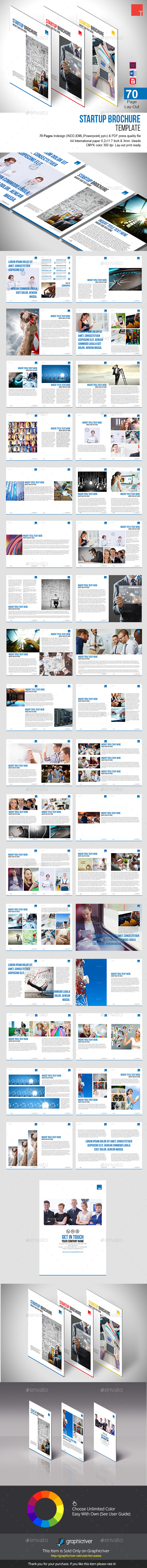 Startup Brochure Template - Informational Brochures