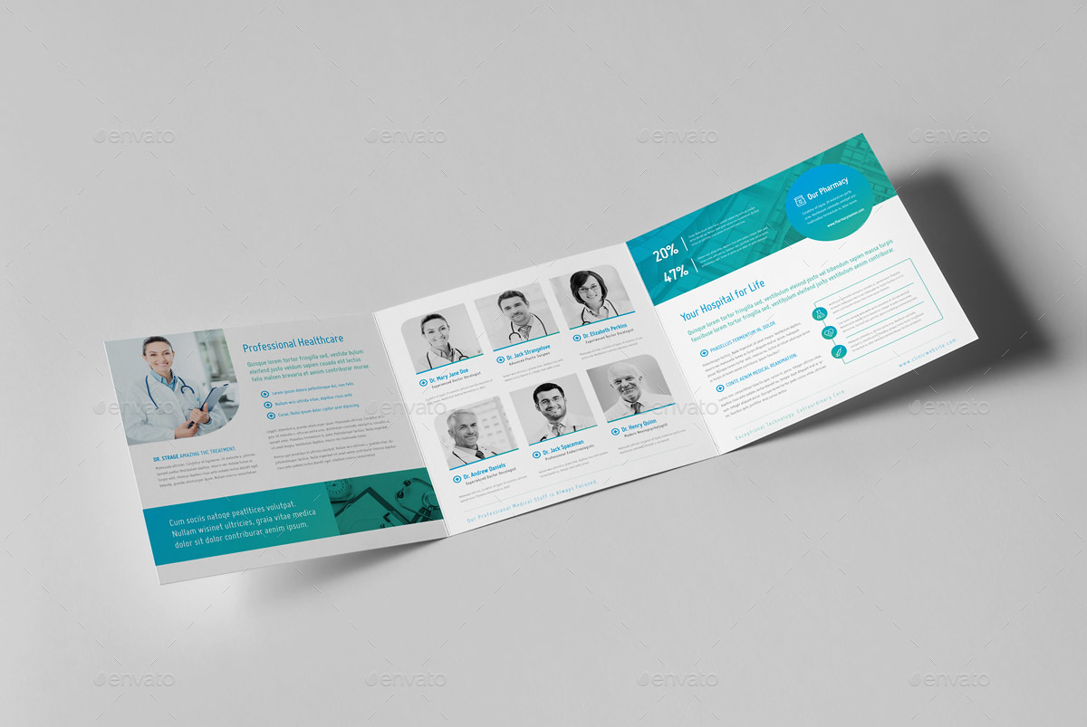 modern medical square trifold brochure by snowboy graphicriver