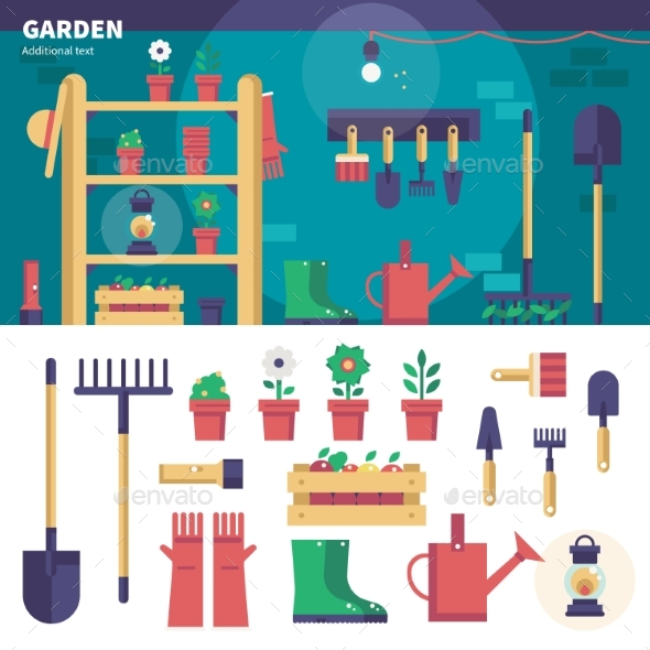 Gardening Equipment in the Garage - Flowers & Plants Nature