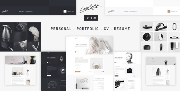 Caracraft - CV/ Resume/ Portfolio - Creative Site Templates