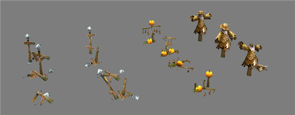 Game Model Arena - Scarecrow street 01 - 3DOcean Item for Sale