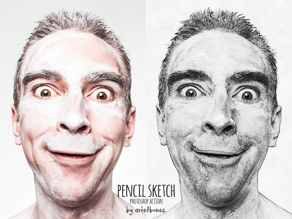 Pencil drawing photoshop action