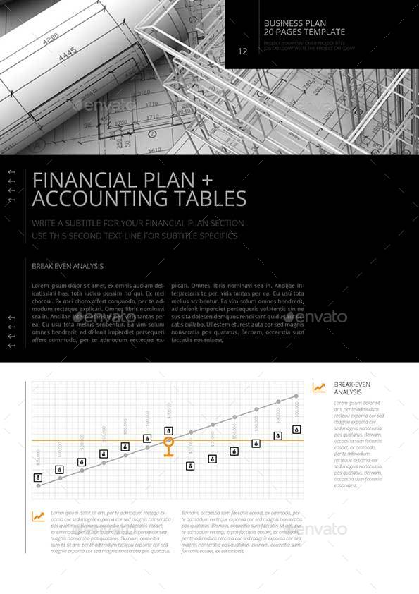 Pages Business Plan Template By Keboto GraphicRiver - Business plan template for pages