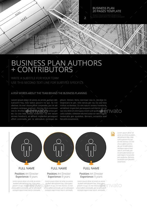20 Pages Business Plan Template by Keboto | GraphicRiver