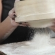 Female Hands Sifted Flour Dough - VideoHive Item for Sale