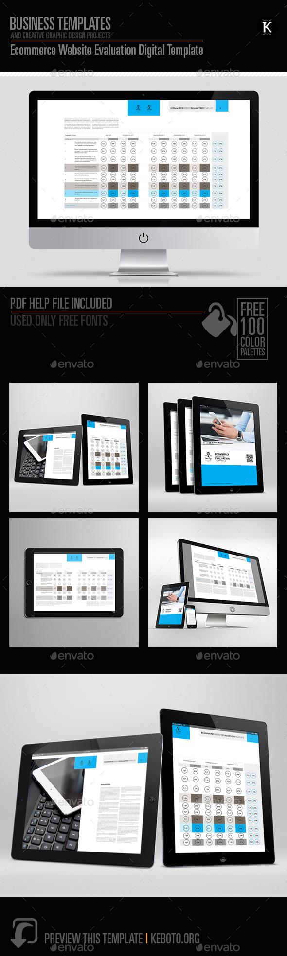 Ecommerce Website Evaluation Digital Template - ePublishing