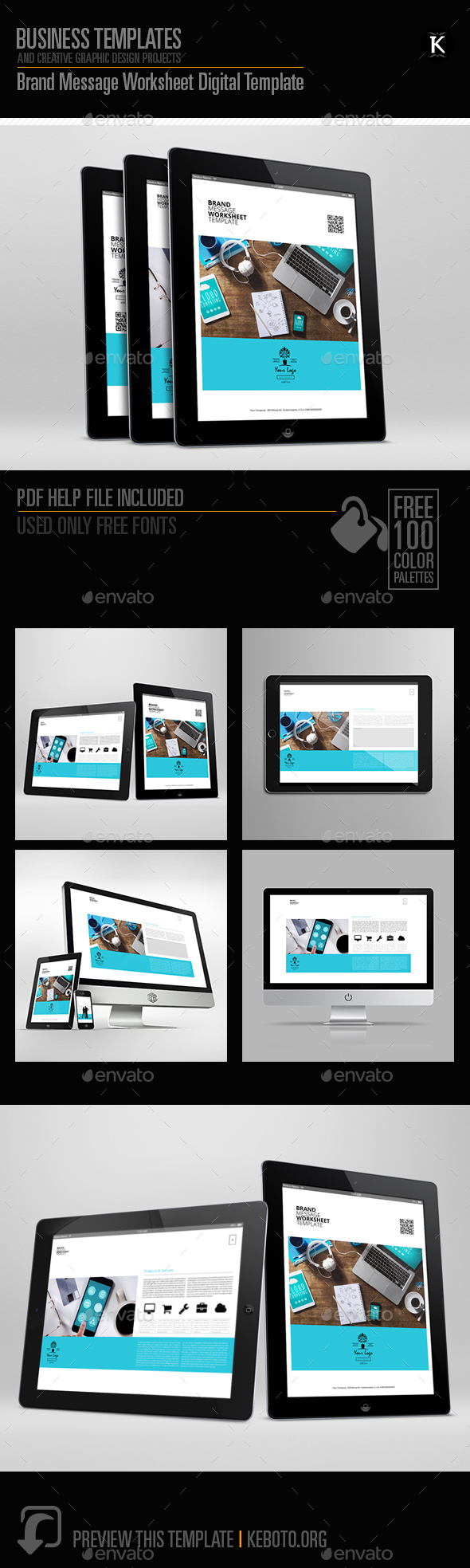 Brand Message Worksheet Digital Template - ePublishing