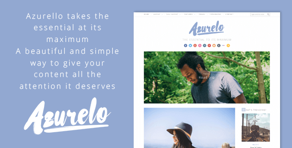 Azurelo, an Essential Blog Theme
