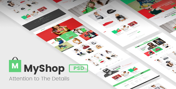 MyShop – Premium Ecommerce PSD template