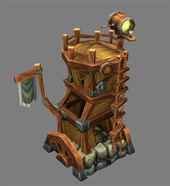 Game Model Arena - Tower  Dwarf  01 - 3DOcean Item for Sale