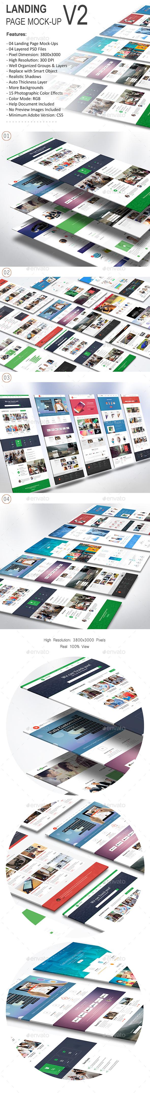 Landing Page Mock-Up 02 - Website Displays