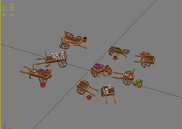 Game Model Arena - trolleys 01 - 3DOcean Item for Sale