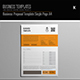 Business Proposal Template Single Page A4 - GraphicRiver Item for Sale