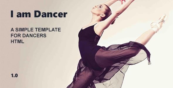I am Dancer – HTML Template Bootstrap