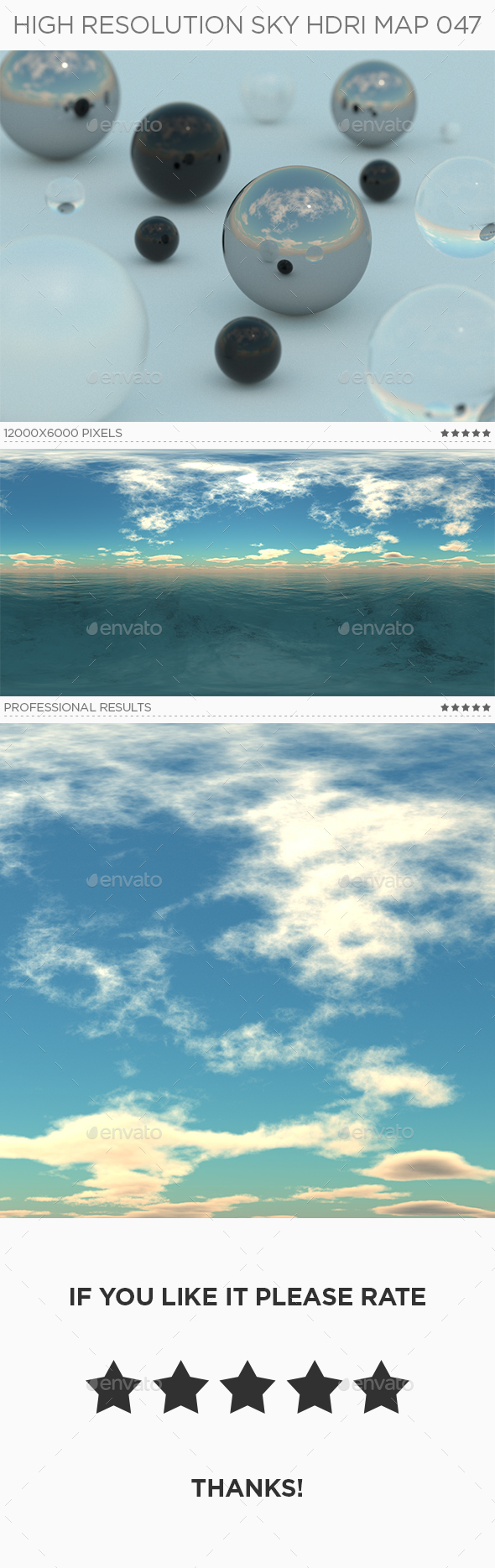High Resolution Sky HDRi Map 047 - 3DOcean Item for Sale