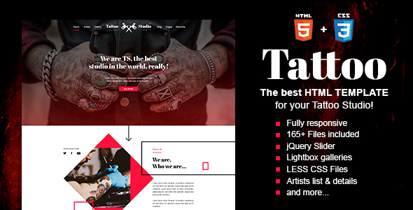 Tattoo - Tattoo Studio HTML Template - Art Creative