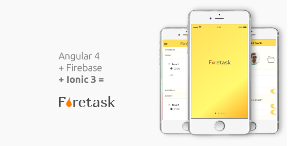 Firetask Classic - Ionic 3 Firebase Full Application Template - CodeCanyon Item for Sale