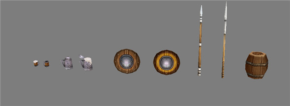 Game Model Arena - weapons pile 01 01 - 3DOcean Item for Sale