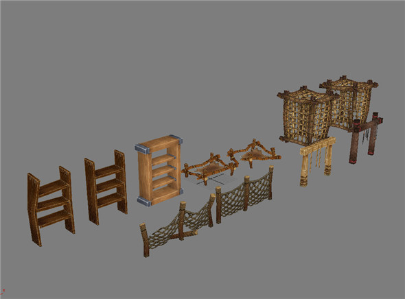 Game Model Arena - Weapons railing prison sentence is 01 - 3DOcean Item for Sale