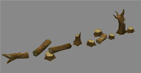Game Model Arena - Wetland Area stumps combination 01 01 - 3DOcean Item for Sale