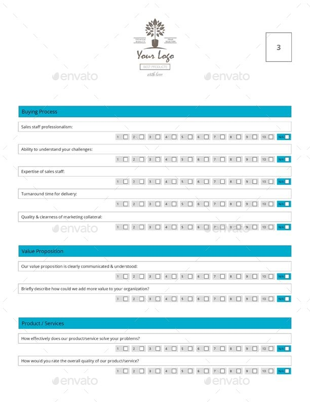Customer Satisfaction Survey Template Us Letter By Keboto  Graphicriver