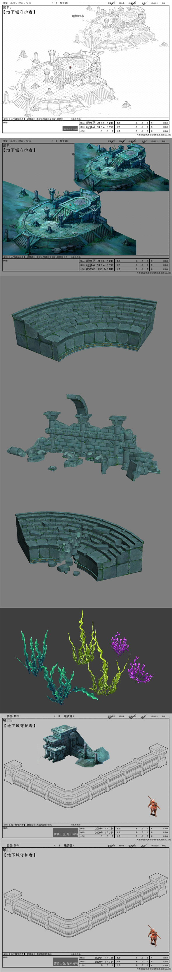 Game model interior wall studs altar Arena Strait grass landing Edge Protectors 01 - 3DOcean Item for Sale