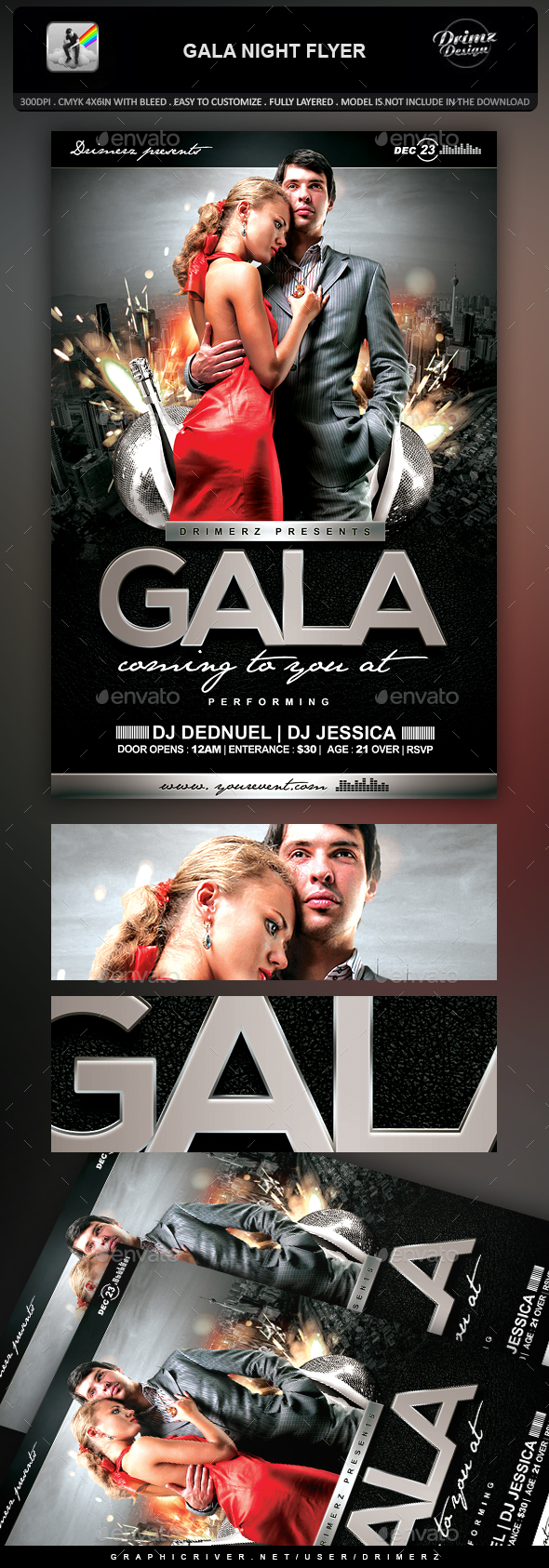 Gala Night Flyer - Events Flyers