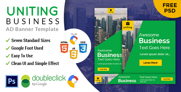 Uniting | Business HTML 5 Animated Google Banner nulled free download